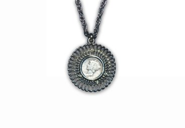 Mercury Dime Antique Necklace