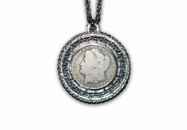 Silver Dollar Bezel Necklace